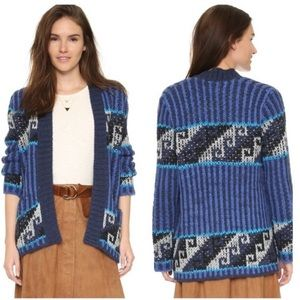 Free people time and again blue kimono cardigan M